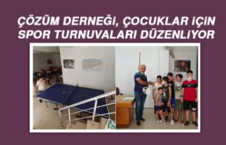 Çözüm Derneği, Çocuklar İçin Spor Turnuvaları...