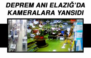 Deprem Anı Elazığ'da Kameralara Yansıdı