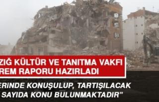 Elazığ Kültür ve Tanıtma Vakfı Deprem Raporu...