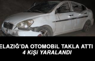 Elazığ'da Otomobil Takla Attı: 4 Yaralı