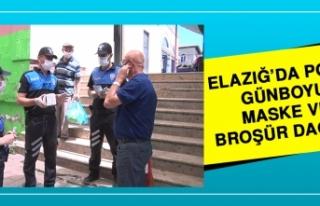 Elazığ'da Polis, Maske ve Broşür Dağıttı