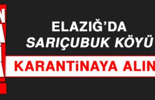 Elazığ'da Sarıçubuk Köyü Karantinaya Alındı
