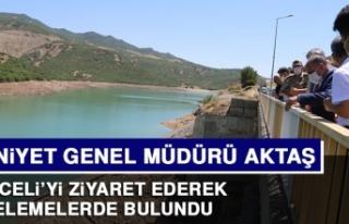 Emniyet Genel Müdürü Aktaş, Tunceli'de