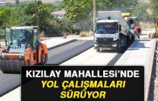 KIZILAY MAHALLESİ'NDE YOL ÇALIŞMALARI SÜRÜYOR