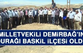 Milletvekili Demirbağ'ın Durağı Baskil İlçesi...