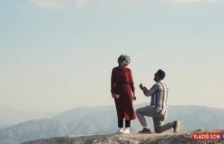 Nemrut Krater Gölü'nde sürpriz evlenme teklifi