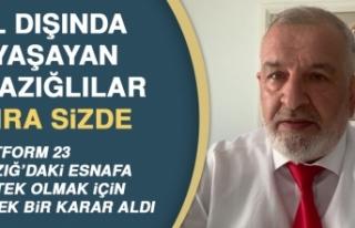 Platform23 Elazığ'daki Esnafa Destek Olmak...