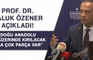 Prof. Dr. Haluk Özener açıkladı! Doğu Anadolu...