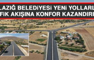 Elazığ Belediyesi Yeni Yollarla Trafik Akışına...