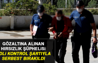 Gözaltına Alınan Hırsızlık Şüphelisi Serbest...