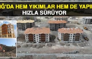 Elazığ'da Hem Yıkımlar Hem De Yapımlar Hızla...
