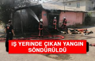 Elazığ'da İş Yerinde Çıkan Yangın Söndürüldü