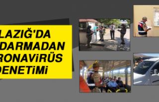 Elazığ'da Jandarmadan Koronavirüs Denetimi