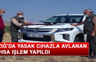 Elazığ'da Yasak Cihazla Avlanan 2 Şahsa İşlem...