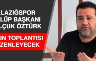 Elazığspor Başkanı Öztürk, Basın Toplantısı...
