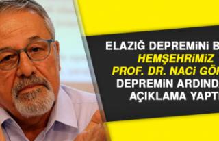 Hemşehrimiz Prof. Dr. Naci Görür Depreminin Ardından...