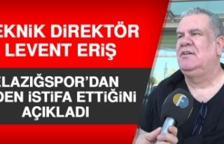 Teknik Direktör Levent Eriş, Elazığspor'dan...