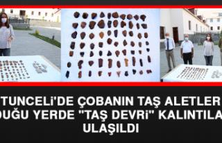 Tunceli'de Çobanın Taş Aletler Bulduğu Yerde...