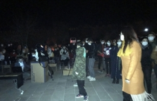 Ardahan Kalesi'nde BİLSEM öğrencilerine astronomi...