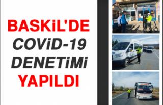 Baskil'de Kovid-19 Denetimi Yapıldı