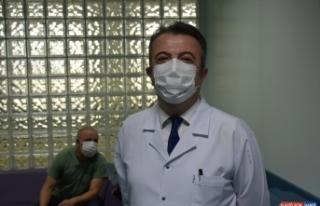 Çin'den getirilen Kovid-19 aşısı İnönü Üniversitesinde...