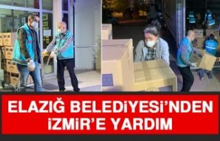 Elazığ Belediyesi'nden İzmir'e Yardım