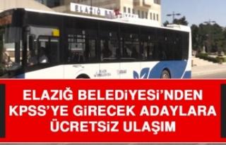 Elazığ Belediyesi'nden KPSS'ye Girecek Adaylara...