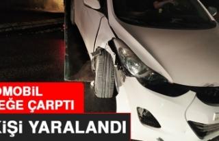 Elazığ'da Otomobil Direğe Çarptı, 4 Kişi...