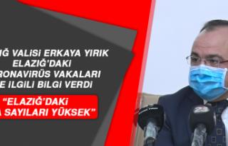 """Elazığ Valisi Yırık: """"Elazığ'daki Vaka Sayıları..."""