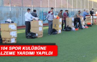 Elazığ'da 104 Spor Kulübüne Malzeme Yardımı...