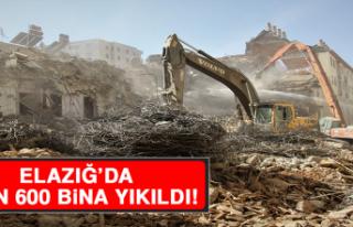 Elazığ'da 3 Bin 600 Bina Yıkıldı