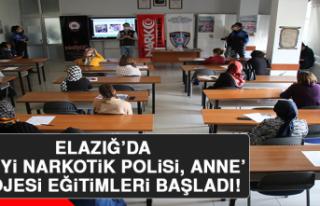Elazığ'da 'En İyi Narkotik Polisi, Anne'...