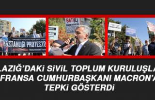 Elazığ'daki STK'lardan Fransa Cumhurbaşkanı...