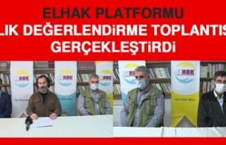 ELHAK Platformu, Aylık Değerlendirme Toplantısını...