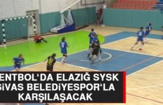 Hentbol'da Elazığ SYSK, Sivas Belediyespor'la...