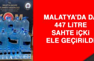 Malatya'da da 447 Litre Sahte İçki Ele Geçirildi