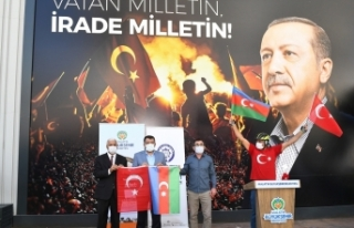 Malatya'da Azerbaycan'a bisikletli destek turu