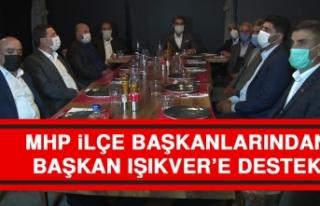 MHP İlçe Başkanlarından, Işıkver'e Destek