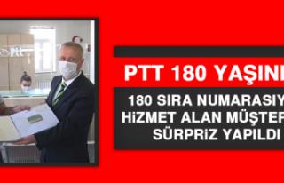 PTT, 180 Sıra Numarasıyla Hizmet Alan Müşteriye...