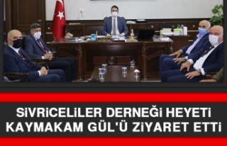Sivriceliler Derneği Heyeti Kaymakam Gül'ü...