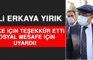 Vali Yırık, Maske İçin Teşekkür Etti, Sosyal...