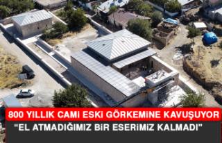 800 Yıllık Cami Eski Görkemine Kavuşuyor