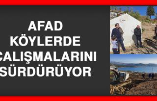 AFAD, Köylerde Çalışmalarını Sürdürüyor