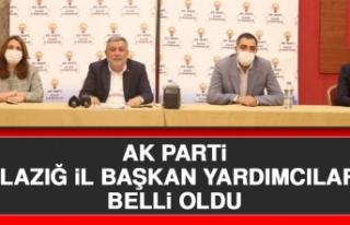 AK Parti Elazığ İl Başkan Yardımcıları Belli...