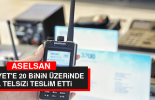 ASELSAN, Emniyet'e 20 Binin Üzerinde El Telsizi...
