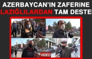 Azerbaycan'ın Zaferine, Elazığlılardan Tam Destek