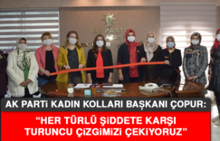 """Başkan Çopur: """"Her türlü şiddete karşı turuncu..."""
