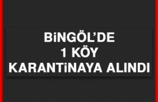 Bingöl'de 1 Köy Karantinaya Alındı