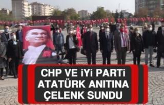 CHP ve İYİ Parti Atatürk Anıtına Çelenk Sundu