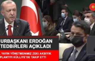 Cumhurbaşkanı Erdoğan, Deprem ve Koronavirüsle...